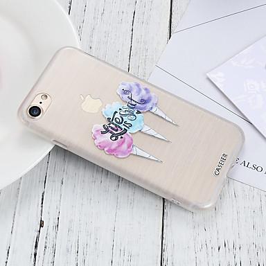 voordelige iPhone 5 hoesjes-hoesje voor Apple iPhone XR / iPhone XS Max waterdicht / stofdicht / doorschijnende achterkant voedsel zachte TPU / mode shell telefoon hoesje voor iPhone 5 / 5s / SE / 6 / 6S / iPhone 6 / 6S Plus /