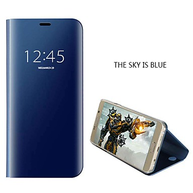 Недорогие Чехлы и кейсы для Galaxy Note 4-Кейс для Назначение SSamsung Galaxy Note 9 / Note 8 / Note 5 Защита от удара / Зеркальная поверхность Чехол Однотонный Твердый ПК
