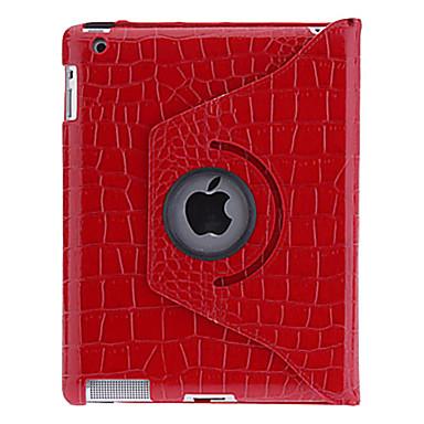 Maska Pentru Apple iPad 4/3/2 Rotație 360 ° / Cu Stand / Model Carcasă Telefon Mată / Culoare Camuflaj PU piele