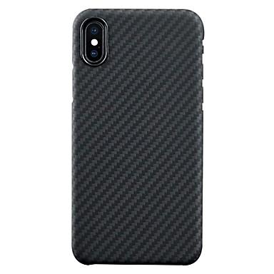 Недорогие Кейсы для iPhone-Кейс для Назначение Apple iPhone X Защита от удара Кейс на заднюю панель Однотонный Мягкий ТПУ / Углеродное волокно
