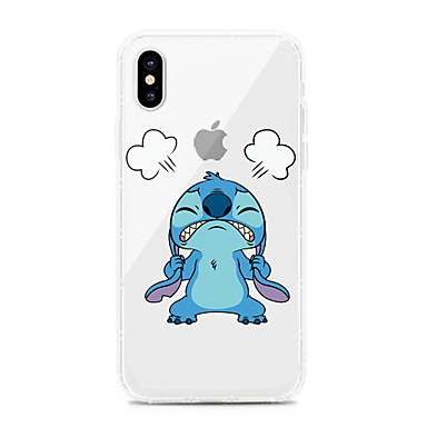 voordelige iPhone 7 hoesjes-hoesje Voor Apple iPhone XS / iPhone XR / iPhone XS Max Schokbestendig / Stofbestendig / Transparant Achterkant Transparant / Cartoon TPU