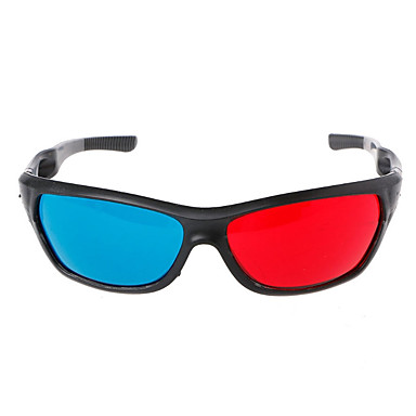 cheap Video Game Accessories-3D Glasses PC Red / Blue VR Virtual Reality Glasses Oval PC (Polycarbonate)