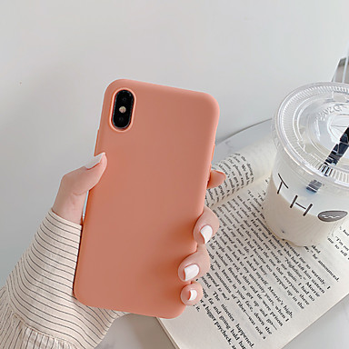 voordelige iPhone X hoesjes-hoesje Voor Apple iPhone XS / iPhone XR / iPhone XS Max Stofbestendig / Ultradun Achterkant Effen / Cartoon TPU