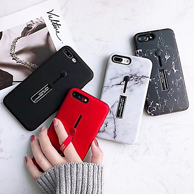 ieftine Carcase iPhone-Maska Pentru Apple iPhone XS / iPhone XR / iPhone XS Max Suport Inel / Model Capac Spate Marmură TPU