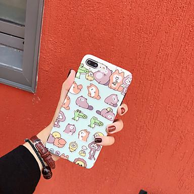 voordelige iPhone 7 hoesjes-hoesje Voor Apple iPhone XS / iPhone XR / iPhone XS Max IMD / Patroon Achterkant dier / Cartoon TPU
