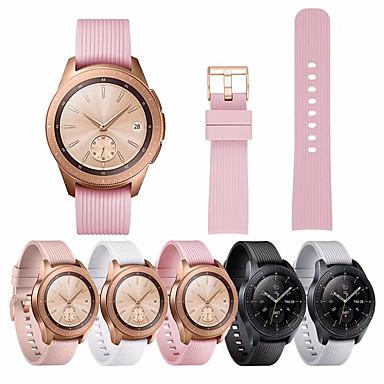 Недорогие Часы для Samsung-20 мм силиконовый ремешок для Samsung Galaxy Смотреть 42 мм резиновый браслет замена ремешок для часов ремешок для Galaxy Смотреть 42 мм золотая пряжка