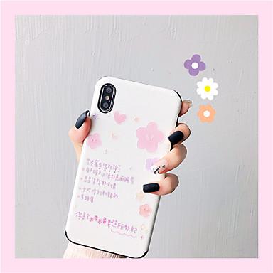 voordelige iPhone 6 Plus hoesjes-hoesje Voor Apple iPhone XS / iPhone XR / iPhone XS Max IMD / Patroon Achterkant Woord / tekst Zacht TPU