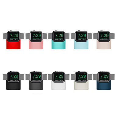 voordelige Apple Watch-bevestigingen & -houders-standaard silicagel bureau voor Apple Watch-serie 4/3/2/1 draadloos opladen (zonder datakabel)