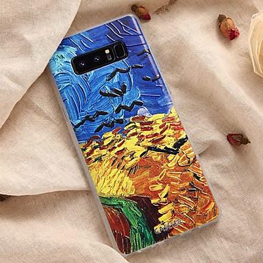 Недорогие Чехлы и кейсы для Galaxy S6-Кейс для Назначение SSamsung Galaxy S8 Plus / S8 / S7 edge Защита от пыли / Ультратонкий / С узором Кейс на заднюю панель Пейзаж Мягкий ТПУ