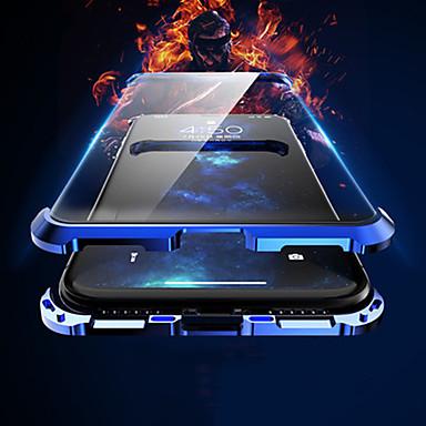voordelige iPhone-hoesjes-hoesje Voor Apple iPhone XS / iPhone XR / iPhone XS Max Flip / Magnetisch Achterkant Effen / Transparant Aluminium