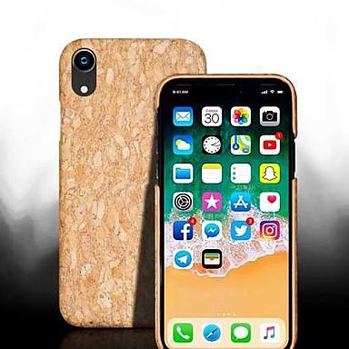 voordelige iPhone-hoesjes-hoesje Voor Apple iPhone XS / iPhone XR / iPhone XS Max Schokbestendig Achterkant Houtnerf Hard Puinen