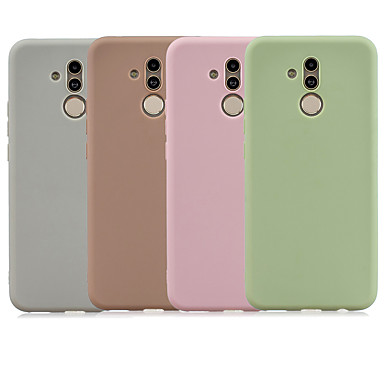 voordelige Huawei Mate hoesjes / covers-hoesje Voor Huawei Mate 10 lite / Huawei Mate 20 lite Mat Achterkant Effen TPU