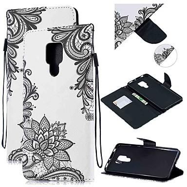 voordelige Huawei Mate hoesjes / covers-hoesje Voor Huawei Huawei Nova 3i / Huawei Nova 4 / Mate 10 Portemonnee / Kaarthouder / Schokbestendig Volledig hoesje Bloem PU-nahka