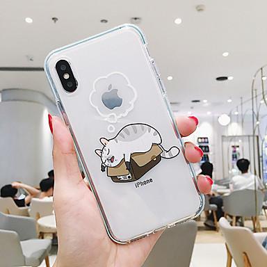 voordelige iPhone 6 hoesjes-hoesje Voor Apple iPhone XR / iPhone XS Max / iPhone X Stofbestendig / Transparant / Patroon Achterkant Kat / Hond TPU