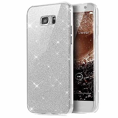 Недорогие Чехлы и кейсы для Galaxy S6 Edge-Кейс для Назначение SSamsung Galaxy S6 edge Сияние и блеск Чехол Сияние и блеск Мягкий ТПУ