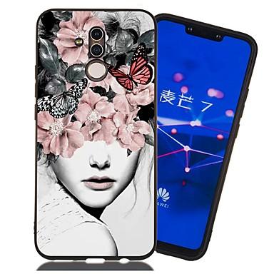 voordelige Huawei Mate hoesjes / covers-hoesje voor huawei honor 9 lite / honor 8a patroon / mat / schokbestendig achterkant sexy dame zachte tpu voor mate 10 lite / mate 20 lite / mate 20 pro / eer 10 / eer 10 lite / eer 6a