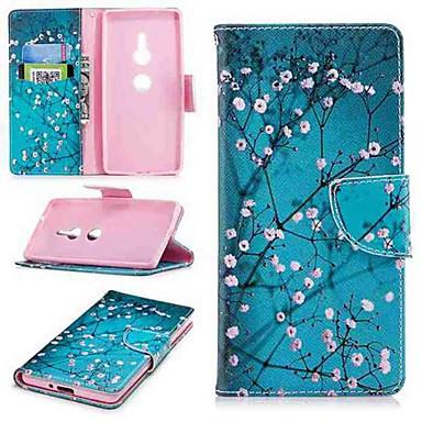 voordelige Hoesjes / covers voor Sony-hoesje Voor Sony Sony Xperia 10 / Xperia XZ2 / Xperia XA2 Ultra Portemonnee / Kaarthouder / met standaard Volledig hoesje Bloem Hard PU-nahka