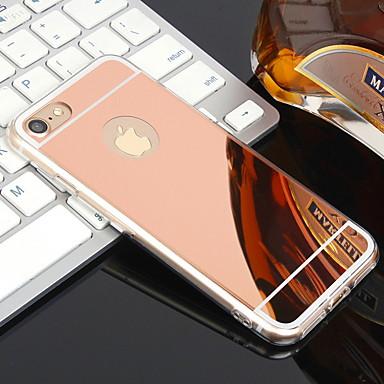 voordelige iPhone 5 hoesjes-hoesje Voor Apple iPhone XR / iPhone XS Max / iPhone X Beplating / Spiegel Achterkant Effen Zacht TPU