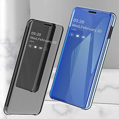 billige Etuier/covers til Huawei-Etui Til Huawei Huawei P30 Pro / Huawei P30 Lite Stødsikker / Belægning / Spejl Fuldt etui Ensfarvet Hårdt PU Læder for Huawei P30 / Huawei P30 Pro / Huawei P30 Lite