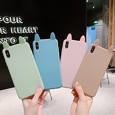 voordelige iPhone 6 hoesjes-hoesje voor Apple iPhone XS / iPhone XR / iPhone XS Max Ultradunne / Frosted Achterkant Effen / 3D Cartoon TPU Soft voor iPhone X / 6 / 6S Plus / 7/8 Plus