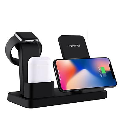 Недорогие Гаджеты для Samsung-10 Вт ци беспроводное зарядное устройство подставка для iphone x 7 8 3 в 1 быстрое зарядное устройство быстрая зарядка для Apple, часы быстрая беспроводная зарядная база