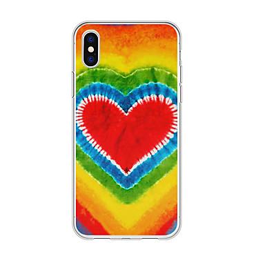 voordelige iPhone 5 hoesjes-hoesje Voor Apple iPhone XS / iPhone XR / iPhone XS Max Patroon Achterkant Hart / Kleurgradatie TPU