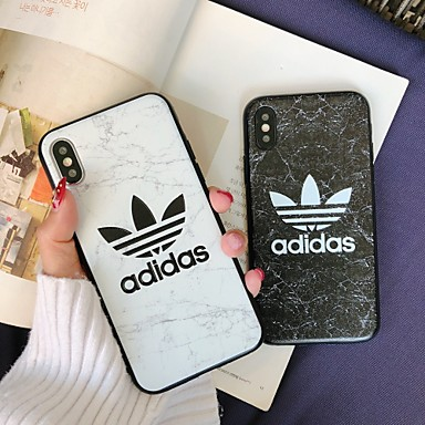 voordelige iPhone X hoesjes-hoesje Voor Apple iPhone XS / iPhone XR / iPhone XS Max Ultradun / Patroon Achterkant Woord / tekst / Marmer TPU