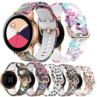 Недорогие Ремешки для часов Huawei-20 мм силиконовая лента для часов huawei 2 huawei sport band цветочная печать