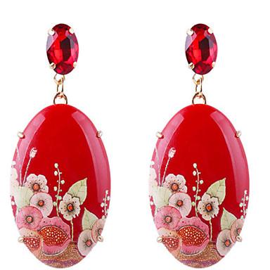 ieftine Cercei-Pentru femei Cercei Picătură Stil Vintage Floare Reșină cercei Bijuterii Rosu Pentru Zilnic Festival 1 Pair