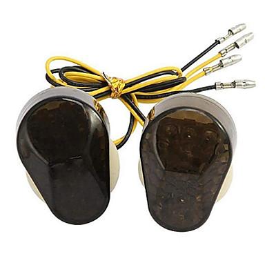 voordelige Motorverlichting-voor Kawasaki grote verplaatsing modellen 2 stks rook lens inbouw led knipperlichten