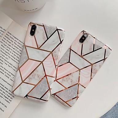 voordelige iPhone 6 Plus hoesjes-hoesje Voor Apple iPhone XS / iPhone XR / iPhone XS Max Schokbestendig Achterkant Geometrisch patroon / Marmer TPU