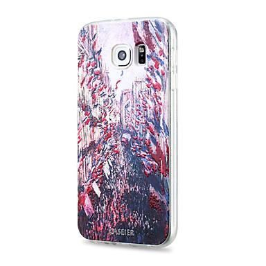 Недорогие Чехлы и кейсы для Galaxy S6 Edge-Кейс для Назначение SSamsung Galaxy S8 Plus / S8 / S7 edge Защита от пыли / С узором Кейс на заднюю панель Пейзаж ТПУ