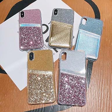 Недорогие Чехлы и кейсы для Galaxy Note 4-Кейс для Назначение SSamsung Galaxy S9 / S9 Plus / S8 Plus Бумажник для карт / Защита от удара / Полупрозрачный Кейс на заднюю панель Прозрачный / Сияние и блеск ТПУ