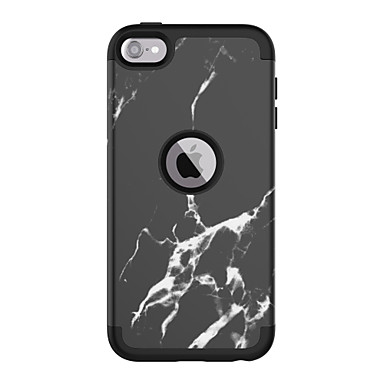 cheap iPhone Cases-Case For Apple Shockproof Back Cover Marble PC / Silica Gel  for iPod Touch 6