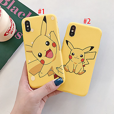 voordelige iPhone 6 hoesjes-hoesje Voor Apple iPhone XS / iPhone XR / iPhone XS Max Stofbestendig / Patroon Achterkant Cartoon TPU