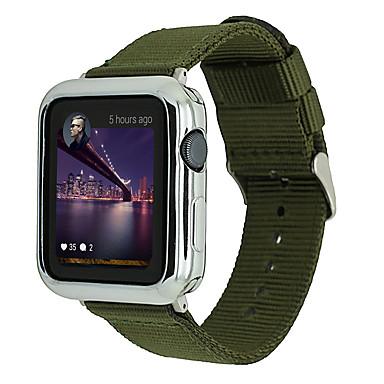Недорогие Ремешки для Apple Watch-Ремешок для часов для Apple Watch Series 4/3/2/1 Apple Классическая застежка Нейлон Повязка на запястье