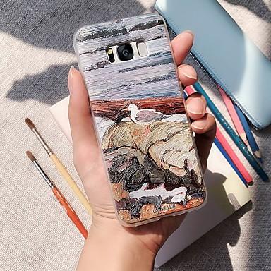 Недорогие Чехлы и кейсы для Galaxy S6 Edge-Кейс для Назначение SSamsung Galaxy S9 Plus / S8 / S7 Водонепроницаемый / Защита от пыли / С узором Кейс на заднюю панель Пейзаж ТПУ
