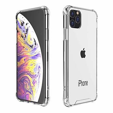 voordelige iPhone X hoesjes-hoesje Voor Apple iPhone 11 / iPhone 11 Pro / iPhone 11 Pro Max Schokbestendig Achterkant Effen TPU / Acryl