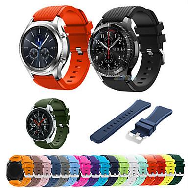 voordelige Horlogebandjes voor Samsung-22 mm siliconen sportband voor Samsung Galaxy Watch 46 mm versnelling S3 Frontier / Classic