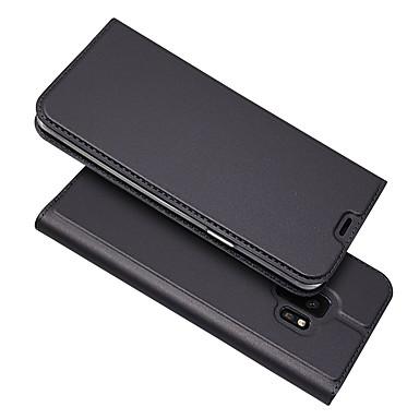 voordelige Galaxy A-serie hoesjes / covers-hoesje Voor Samsung Galaxy S9 / S9 Plus / S8 Plus Kaarthouder / Magnetisch / Auto Slapen / Ontwaken Volledig hoesje Effen PU-nahka / TPU