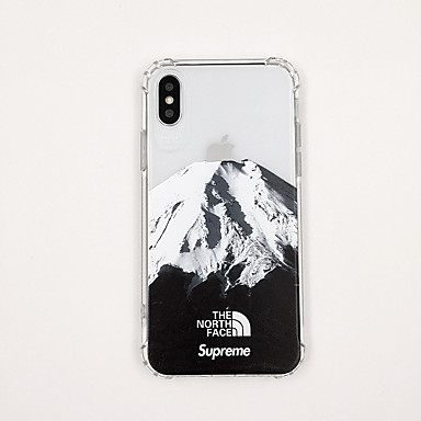 voordelige iPhone 6 Plus hoesjes-hoesje Voor Apple iPhone XS / iPhone XR / iPhone XS Max Ultradun / Transparant / Patroon Achterkant Transparant / Landschap / Cartoon TPU