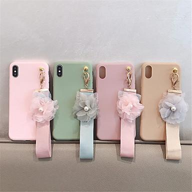 voordelige iPhone 6 Plus hoesjes-hoesje Voor Apple iPhone XS / iPhone XR / iPhone XS Max DHZ Achterkant Effen / Bloem TPU