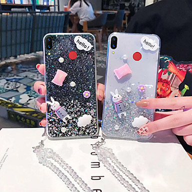 voordelige Galaxy Note-serie hoesjes / covers-hoesje Voor Samsung Galaxy Note 9 / Note 8 Transparant / Patroon / Glitterglans Achterkant Transparant / dier / Glitterglans TPU