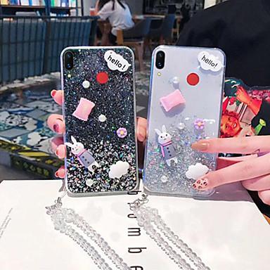voordelige Huawei Mate hoesjes / covers-hoesje Voor Huawei Huawei P20 / Huawei P20 Pro / Huawei P20 lite Transparant / Patroon / Glitterglans Achterkant Transparant / dier / Glitterglans TPU