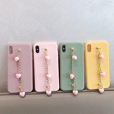 voordelige iPhone-hoesjes-hoesje Voor Apple iPhone XS / iPhone XR / iPhone XS Max Mat / DHZ Achterkant Effen TPU