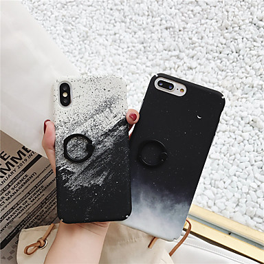 voordelige iPhone 6 Plus hoesjes-hoesje Voor Apple iPhone XS / iPhone XR / iPhone XS Max Ringhouder / Patroon Achterkant Landschap PC