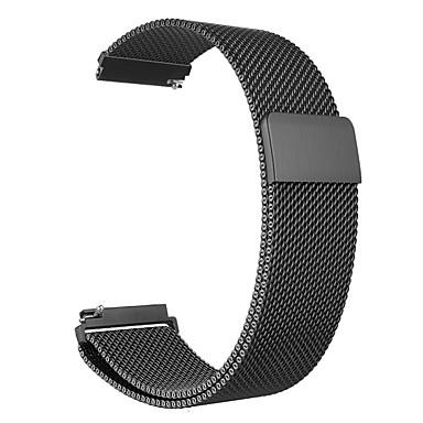voordelige Horlogebandjes voor Samsung-horlogeband voor Samsung Galaxy / Garmin Milanese lus roestvrij stalen polsband 14/16/18/20/22/23/24 mm