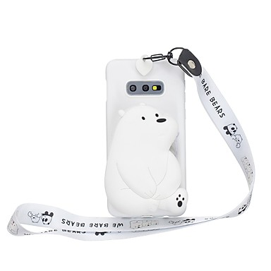 voordelige Galaxy S-serie hoesjes / covers-hoesje Voor Samsung Galaxy S9 / S9 Plus / S8 Plus Portemonnee / Patroon Achterkant 3D Cartoon TPU