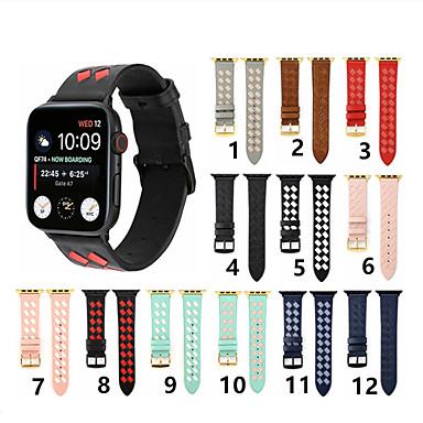 voordelige Smartwatch-accessoires-Horlogeband voor Apple Watch Series 4/3/2/1 Apple Sportband Echt leer Polsband