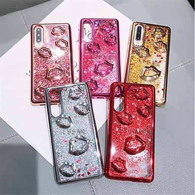 voordelige Huawei Mate hoesjes / covers-hoesje Voor Huawei Huawei P20 / Huawei P20 Pro / Huawei P20 lite Stromende vloeistof / Glitterglans Achterkant Effen TPU